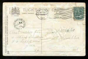 534 - MOUNT HAMILTON SUB P.O. 1911 Split Ring (EKD) Receiver on Postcard