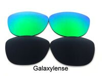 Galaxy Replacement Lenses For Oakley Frogskins Sunglasses Black&Green Polarized