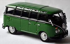 VW Volkswagen T1 Samba Bus MICROBUS DELUXE 1963-67 VERDE+NERO 1:43