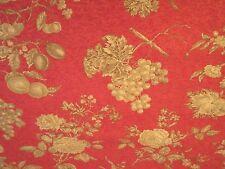 Vintage Fabric Bolt Red Floral Cedar Berry Designer P. Kaufmann 8 Yards! New