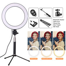 LED Ring Light Lamp Stand Kit Dimmable Photo Studio Selfie Phone Live Makeup