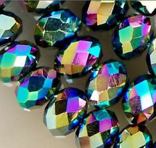 144 pcs Multi-Color Crystal Faceted Gemstone Rondelle Abacus Loose Beads 8x10mm