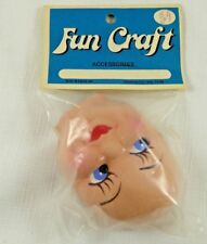 VINTAGE FUN CRAFT~DOLL FACE~ ODS' N ENDS INC. OKLAHOMA CITY, OK~NOS~UNOPENED USA