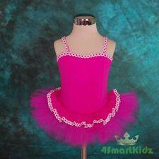 Girl Hot Pink Ballet Tutu Dance Costume Dress Size 4-5
