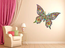 """Psychedelic Butterfly Vinyl Wall Decal Graphics 30""""x22"""" Bedroom Home Decor"""