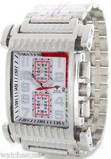 Aqua Master Stainless Steel Silver Tone Band  Men's Diamond Quartz Watch W#330