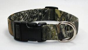 Mossy Oak Camo Camouflage Dog Collar Adjustable Handmade Custom Designer