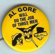 MARX BROTHERS anti Al Gore George W. BUSH 2000 pin