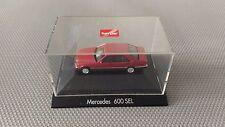 Voiture Miniature Herpa « Mercedes 600 SEL » 1/87 Très Bon Etat.