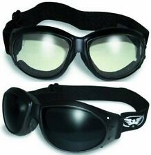 2 Global Vision Eliminator Super Dark and Clear Padded Motorcycle Goggles Riding