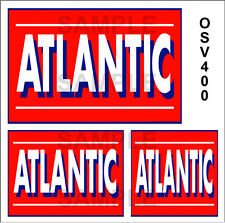 ATLANTIC GASOLINE GAS STATION WATERSLIDE BUILDING SIGN DECALS O SCALE OSV400