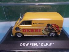 ALTAYA RBA AGOSTINI DIE CAST DKW VAN F89L DERBI  BOXED 1:43 AS NEW