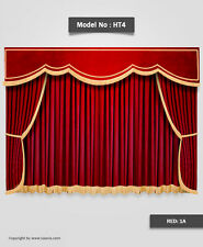 Saaria HT-4 Decorative Stage Curtains & Movie Theater Valance Curtain 22'Wx10'H