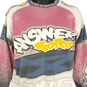 Answer Racing Jersey Vintage 90s Motocross Supercross Pink Made In USA Large