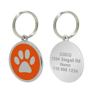 50/100pcs Wholesale Personalized Pet Dog ID Tag Bulk Custom Round Dog Name Disc