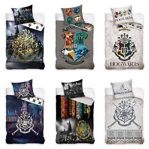 Harry Potter  Bettwäsche 135 x 200 Bettbezug 100 % Baumwolle Hogwards Varianten
