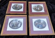Set of 4 Hand Colored Restrike Engravings after Wm. Hamilton's Children's Games