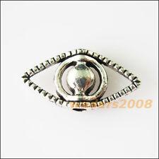 10 New Human Organ Eyes Charms Tibetan Silver Tone Spacer Beads 9.5x19.5mm