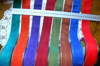 SOLID Two-Toned 38mm wide 3 Metre Lengths 8 Colour Choices May Arts LrgL2