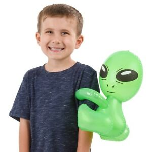"""12"""" HUG-ME ALIEN INFLATABLE BLOW UP INFLATE - UFO Space Child Toy"""