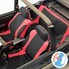 10pc Red & Black Car Mats & Seat Covers Set Auto Accessory Protectors Universal