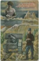 Soldier Artillery Cannon Patriotic 1917 Militaria Austria WW1 Postcard (566)