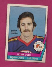 RARE 1977-78 OPC WHA # 54 NORDIQUES NORM DUBE ROOKIE EX-MT CARD  (INV #3645)