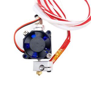 3D Printer Parts V6 Extrusion Hotend Kit 12V Cooling Fan Teflon Tube for E3D