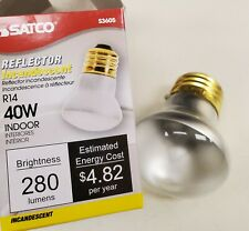 6 New Satco R-14 Reflector Spot Light Bulbs Model S3605 40watt 120Volt