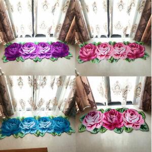 3D Rose Shaped Area Rugs Handmade Floor Mat Carpet Bedroom Living Room Non Slip