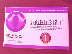 Nutramax Denamarin Large Dogs 35 Lbs. and Over 30 Stabilized Tablets exp 03/2024