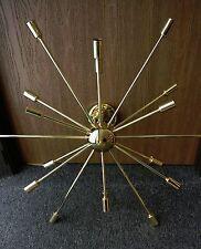 Mid Century Modern Sputnik Chandelier Light Fitting POLISHED BRASS 18 ARM