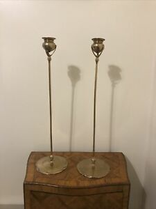 Tiffany Candlesticks 1213 Gilt Bronze Art Nouveau