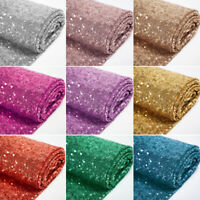 """Glitter Sequin Mesh Fabric 3mm Shinny High Dense Sequins 50"""" Wide By The Yard"""