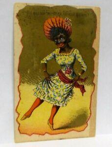 Antique Victorian Black Americana Wholesale Liquor Dealers Trade Card