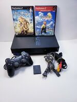 PlayStation 2 Fat Console SCPH-30001 R Bundle With Final Fantasy Games