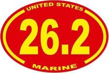 3 X 4.5 UNITED STATES MARINE CORPS   26.2  MARATHON  USMC  OVAL EURO STICKER