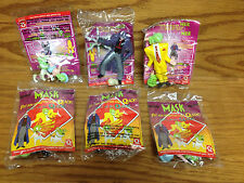 Set of 3 ~ RARE French QUICK Restaurant THE MASK Action Figures JIM CARREY
