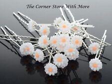 5 Floral Daisy Debutante Hair Pins Beach Garden Wedding Flowergirl Bridesmaid