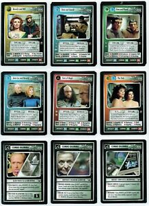 STAR TREK CCG ENHANCED PREMIERE, COMPLETE SET OF 21 CARDS