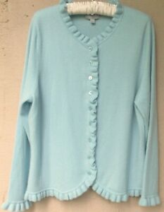 PURE Collection Cashmere Ruffle Edge Cardigan  $210. LKO49  Size 18/XL
