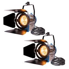 2 x Fresnel Tungsten 1000W Studio Light Dimmable Spotlight Lighting Video