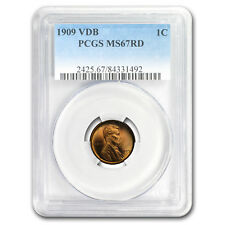 1909 VDB Lincoln Cent MS-67 PCGS (Red) - SKU#157839