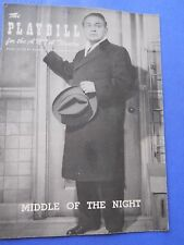 Feb. 8 - 1956 - Anta Theatre Playbill - Middle of the Night - Edward G. Robinson