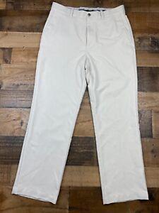 Callaway Mens Off White Lightweight Performance Tech Golf Pants Grip Waist 32x30
