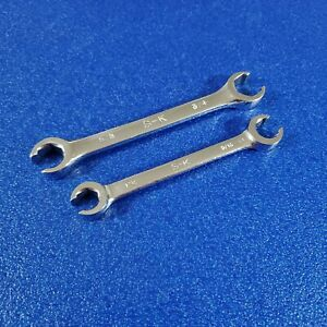 """YOU GET BOTH - SK LINE WRENCHES WRENCHES 1/2"""" X 9/16"""", 5/8"""" X 3/4"""" USA SAE LOT"""