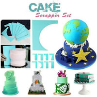 8-Style Cake Scrapers Fondant Cream Spatula Edge Smoother Baking Decorating Tool