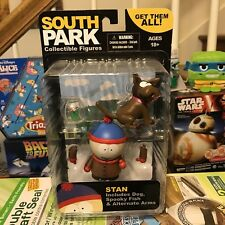 South Park Stan Marsh Action Figure w Sparky Dog Spooky Fish Arms 2011 Mezco Toy