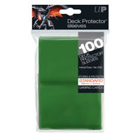 ULTRA PRO Deck Protector Sleeves Green Standard Card 100ct 66 x 91mm
