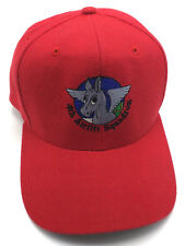 4th AIRLIFT SQUADRON USAF / U.S. AIR FORCE red adjustable wool cap / hat
